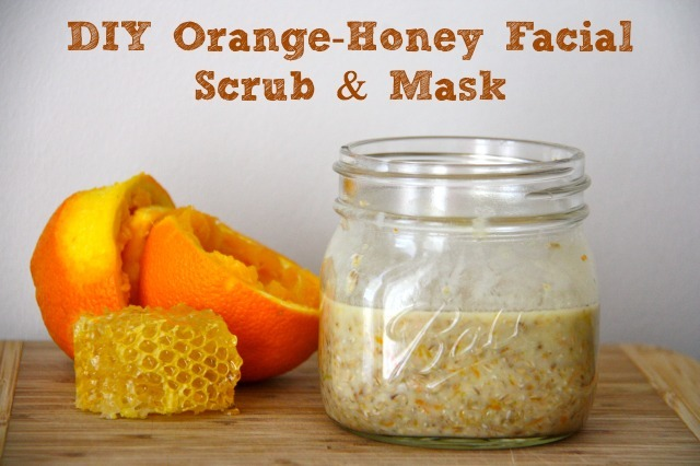 DIY Orange-Honey Facial Scrub & Mask :: Five Little Homesteaders